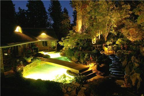 Pond Lights Lighting Land Expressions Mead Wa Pond