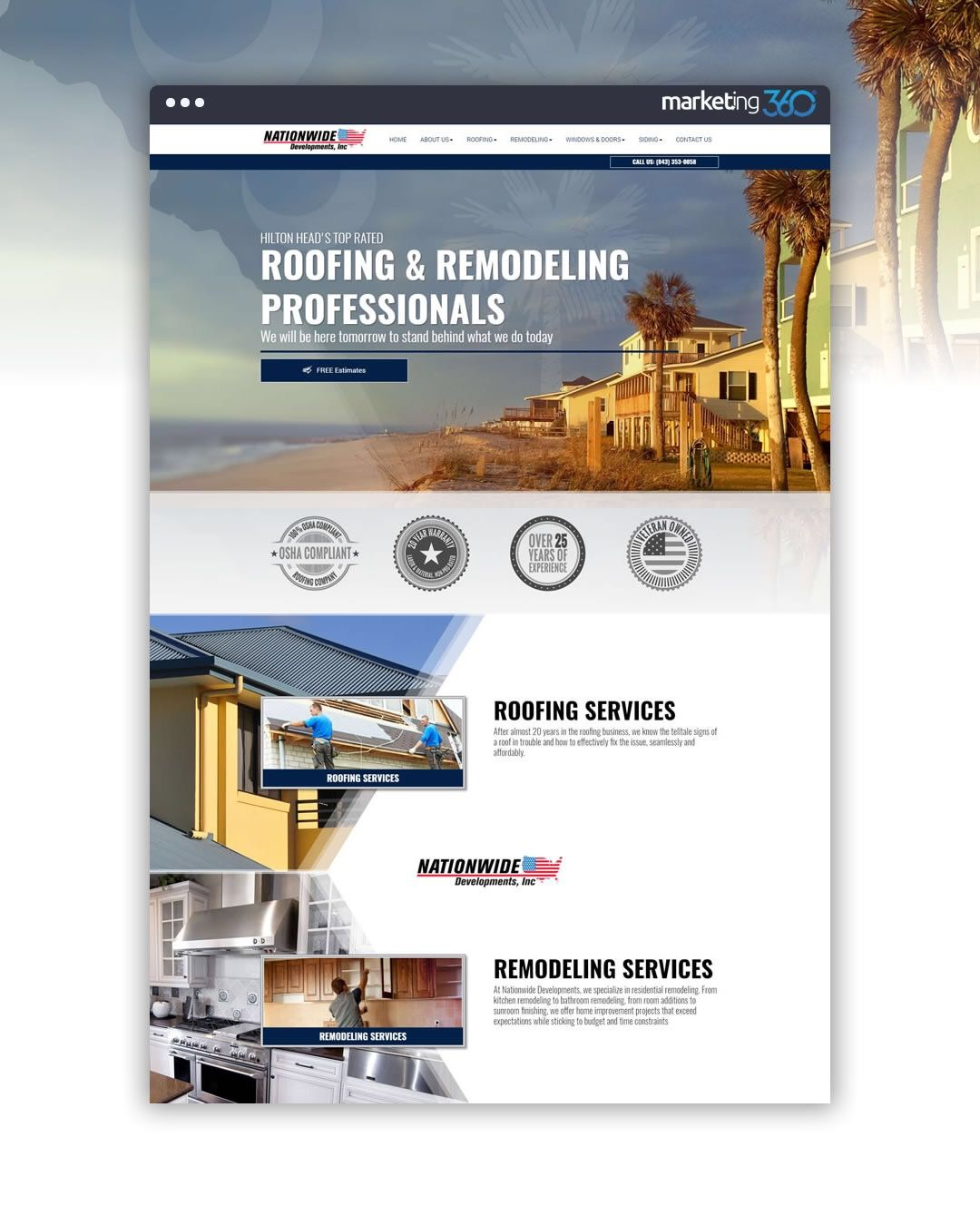 Design Of The Day Roofing Contractor Homepage Mockup Concept By Our Talented Designer Tim Deal Roofing Services Remodeling Service Roofing