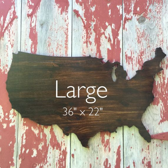 Usa Wooden Wall Decor Wooden Map Wall Art 36 Stained Us Wood