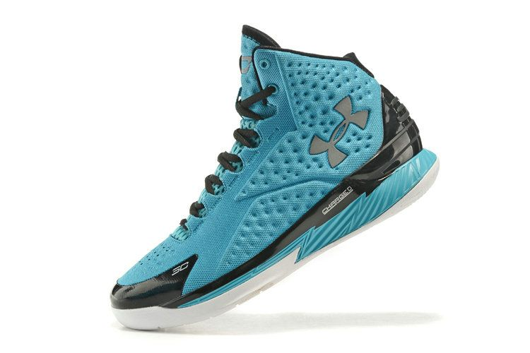 Free Shipping Only 69$ Under Armour Curry One 1 Panthers Sport Teal SiLVSer Black  White