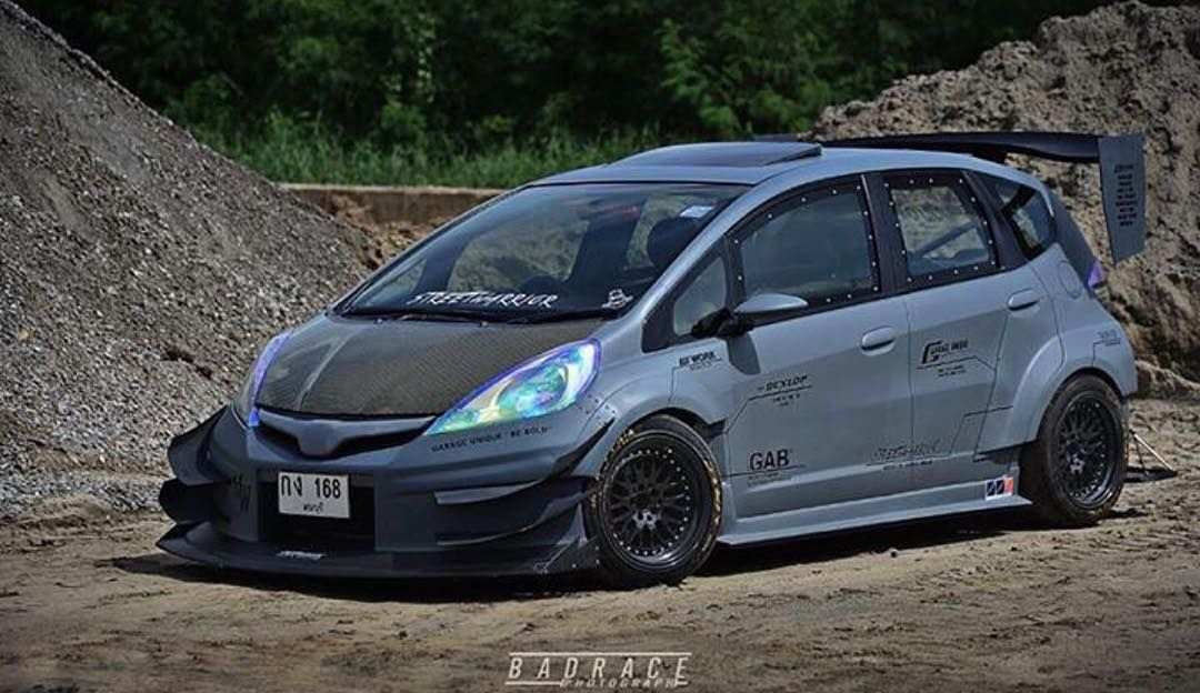 """""""One Evil Honda Fit by Garage Unique Tag Owner Tag"""