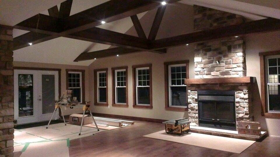 Finition interieur foyer construction neuve | réalisation foyer ...