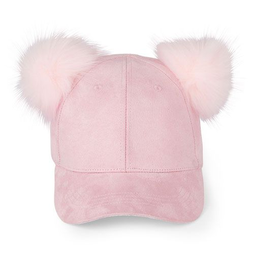 a5216ef2309 Girls Double Pom-Pom Baseball Hat - Pink - The Children s Place ...