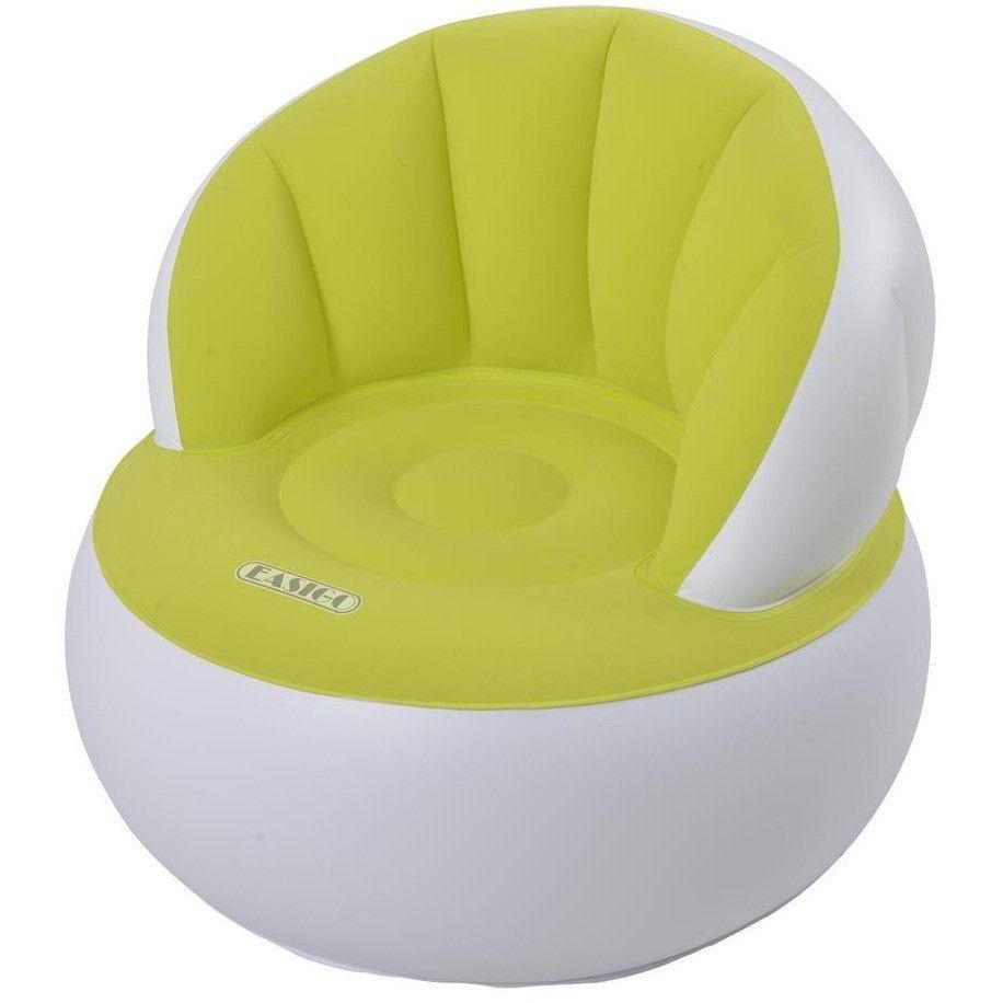 "Jilong 33.5"" White and Green Inflatable Indoor/Outdoor ""Easigo"" Armchair 32148723"