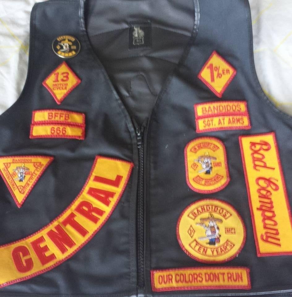 club patch leather vest