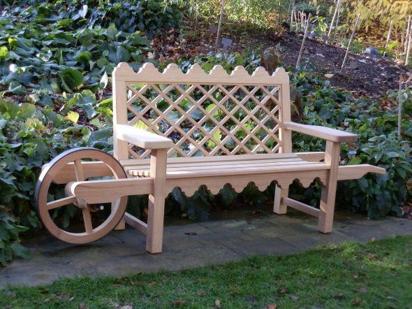Vecchie Panchine Da Giardino.Wonderful Wheelbarrow Bench From Andrew Crace Garden Benches
