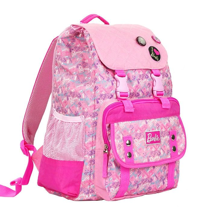 Barbie Schoolbag for Elementary School Students Girls 2-4-6 Grade Flip Lace-up CHILDRENS School Bags Fashion Casual Backpack