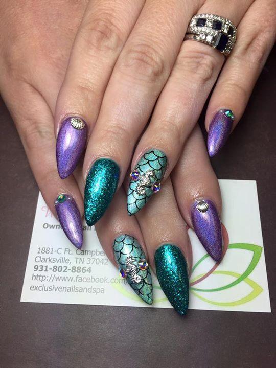 Mermaid nails | Nails!!! | Pinterest | Mermaid nails, Mermaid and ...