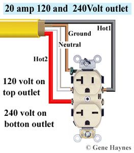 240-120 volt outlet | Outlets, Wire, Plugs