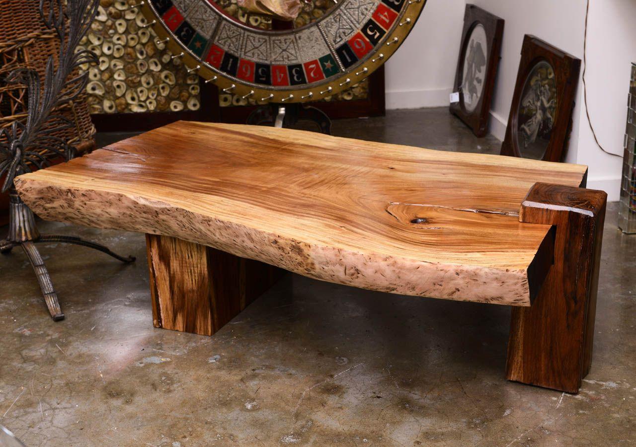 Mid Century Wood Slab Table 1stdibs Com Wood Slab Table Slab Table Wood Slab
