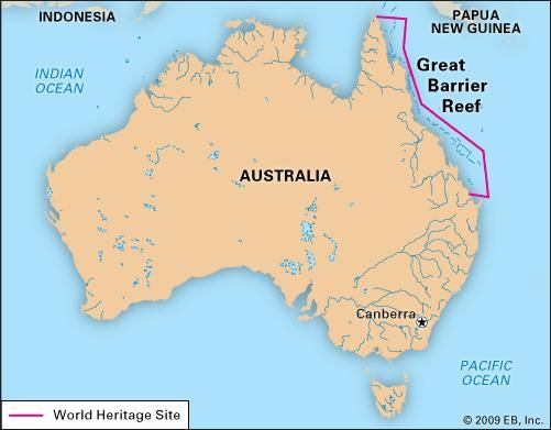 Great barrier reef off the northeastern coast of australia great barrier reef off the northeastern coast of australia designated a world heritage site gumiabroncs Choice Image
