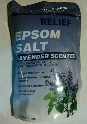 nice Relief Lavender Scented Epsom Salt Calming Relaxing 16 oz 1 lb Rejuvenates Relax - For Sale View more at http://shipperscentral.com/wp/product/relief-lavender-scented-epsom-salt-calming-relaxing-16-oz-1-lb-rejuvenates-relax-for-sale/