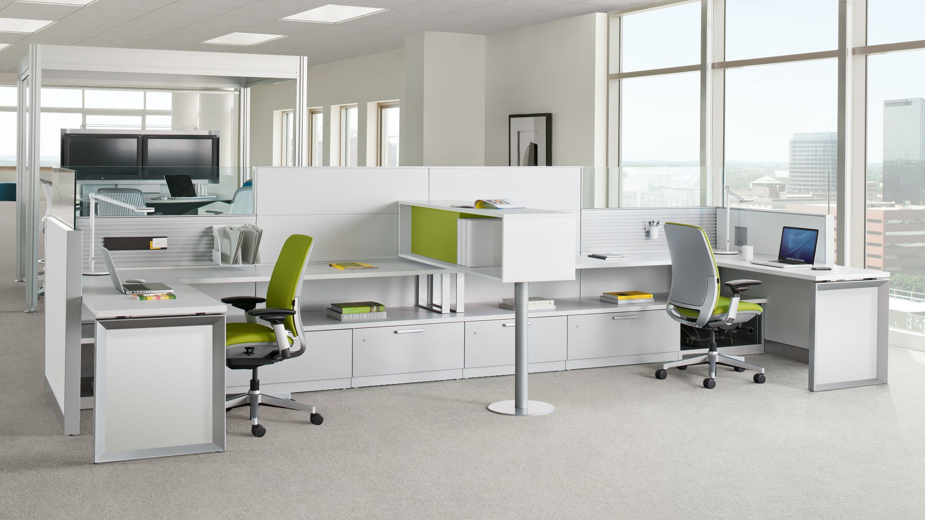 Answer Office Workstations Panel Systems Steelcase System Furniture Doha Singapore Manufacturer
