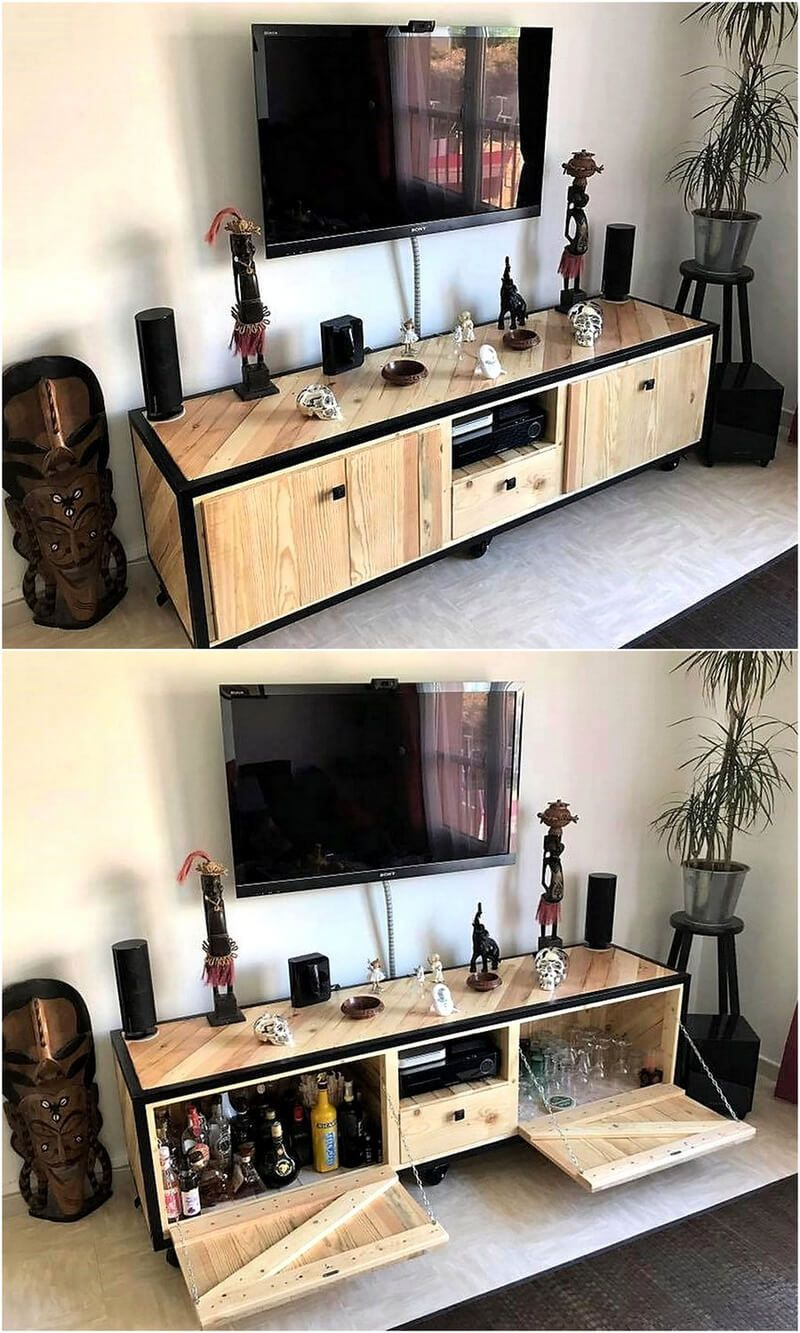 We Would Like To Begin Showing The Ideas With Most Amazing Idea Of Creating Tv Stand Console You Can See How It Is Utilized For Storing Drinking