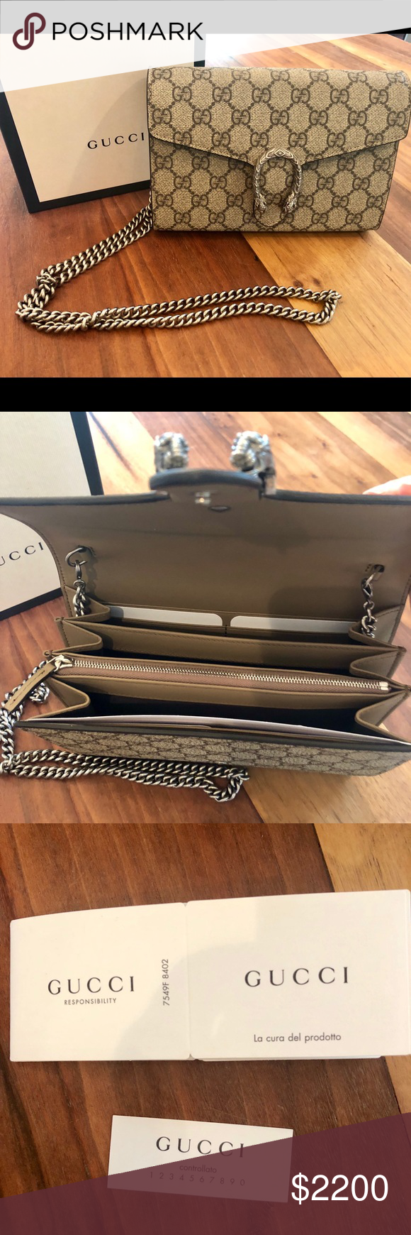 6d13f2a428d Gucci Dionysus Small GG Shoulder Bag Adorable structured clutch. New in  box