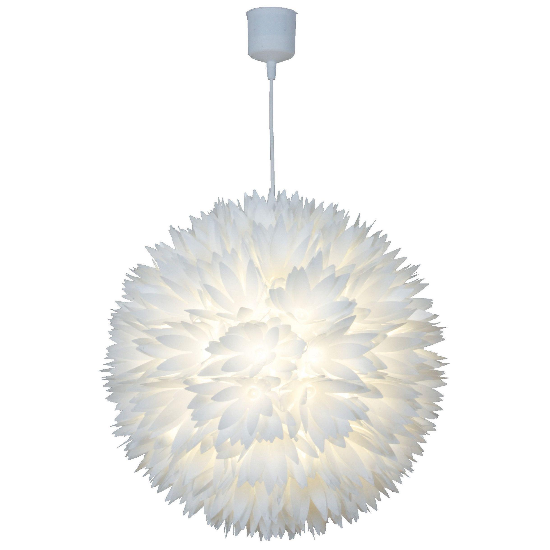 Näve Leuchten Kugel-Pendelleuchte 19-flammig Blossom  Weiße