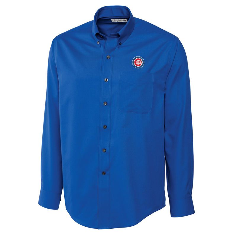 4dcef91cc8264 Chicago Cubs Cutter   Buck Big   Tall Epic Easy Care Fine Twill Long ...