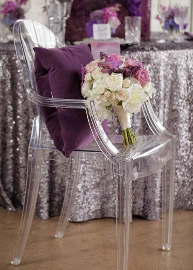 ghost chairs might be good combined with silver sequins. Black Bedroom Furniture Sets. Home Design Ideas