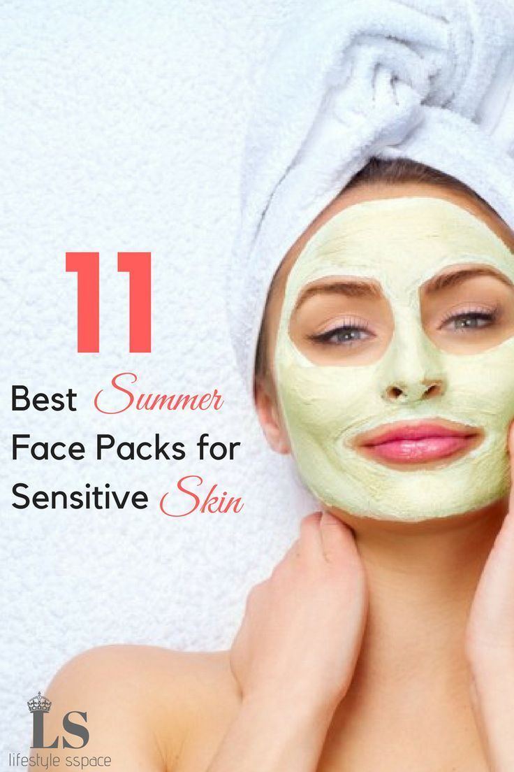 Best Summer Face Packs for Sensitive Skin  Hair Nails Skin