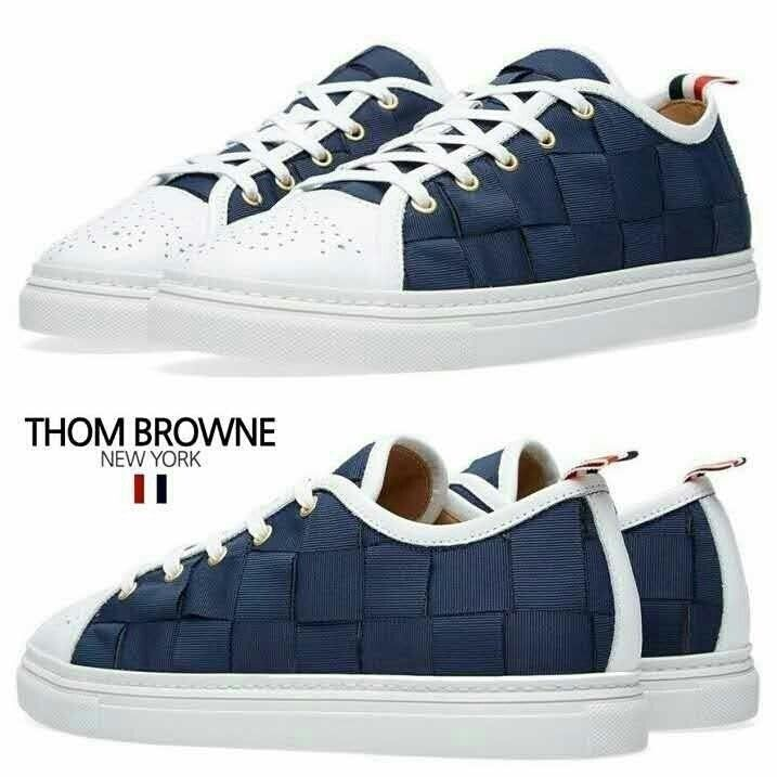 60d6344ca7570 Thome Browne woven navy Sneakers 톰브라운 2016 신상 네이비우븐 스니커즈 슈즈 신발 운동화