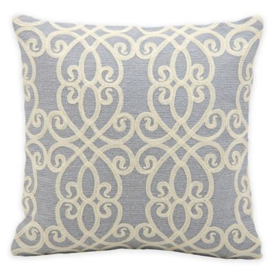 Kathy Ireland Home® by Gorham Romance Square Throw Pillow in Blue - BedBathandBeyond.com