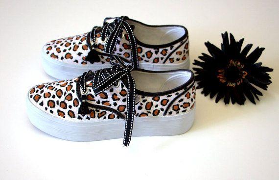 Leopard print platforms for women.  by TheOriginalSillabeas