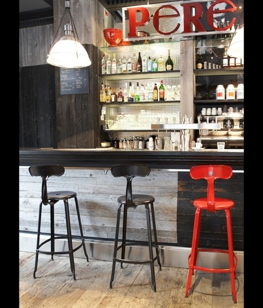 chaises de bar industrielles nicolle h75 noir mat au comptoir du caf p re et fils paris. Black Bedroom Furniture Sets. Home Design Ideas
