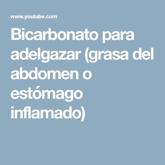 Bicarbonato para estomago inflamado