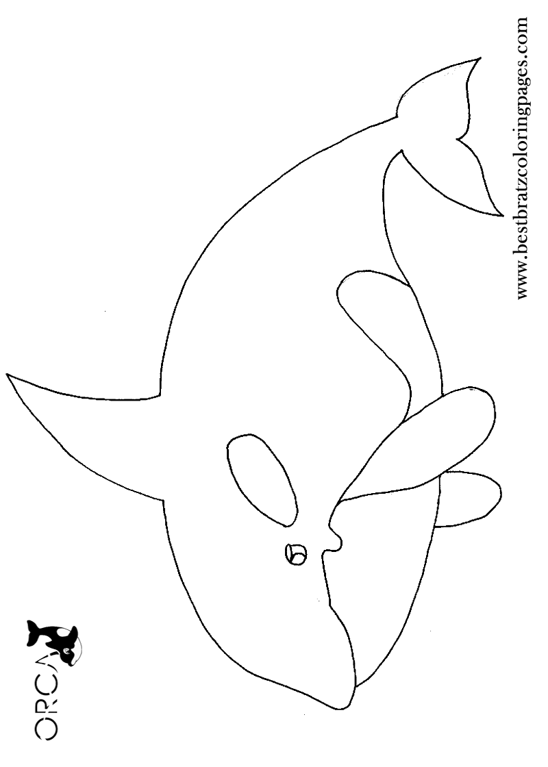 Printable Orca Coloring Pages For Kids Bratz Coloring Pages Trafarety Delfiny Applikaciya