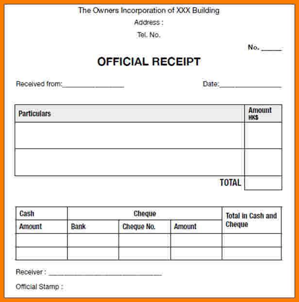 6 Official Receipt Template Authorization Memorandum