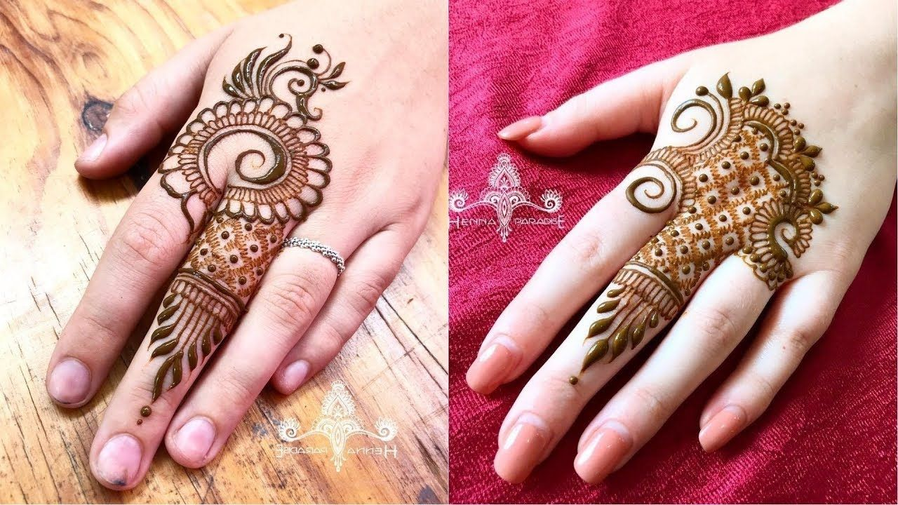 Easy Mehndi Tutorial : Very easy mehndi tutorial for beginners without any tips and