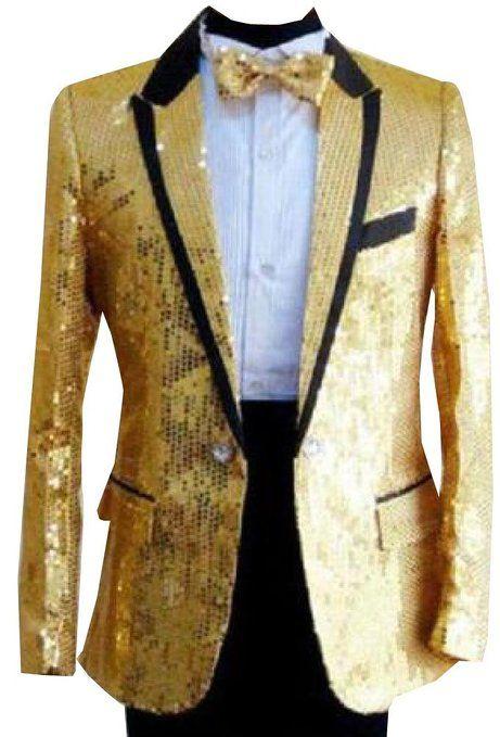 Bling Sequins Jacket Men s Tuxedo Suit Gentleman One Button Coat Cloth 325c924b59f8