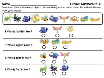 18b350ac40c0 Ordinal Numbers to Ten Practice  Practice Vocabulary Essentials like   first