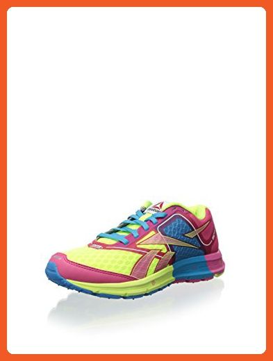 0ab55f0aca893 Reebok One Cushion Running shoes, pink/yellow/blue/wht/blk, size 8 ...