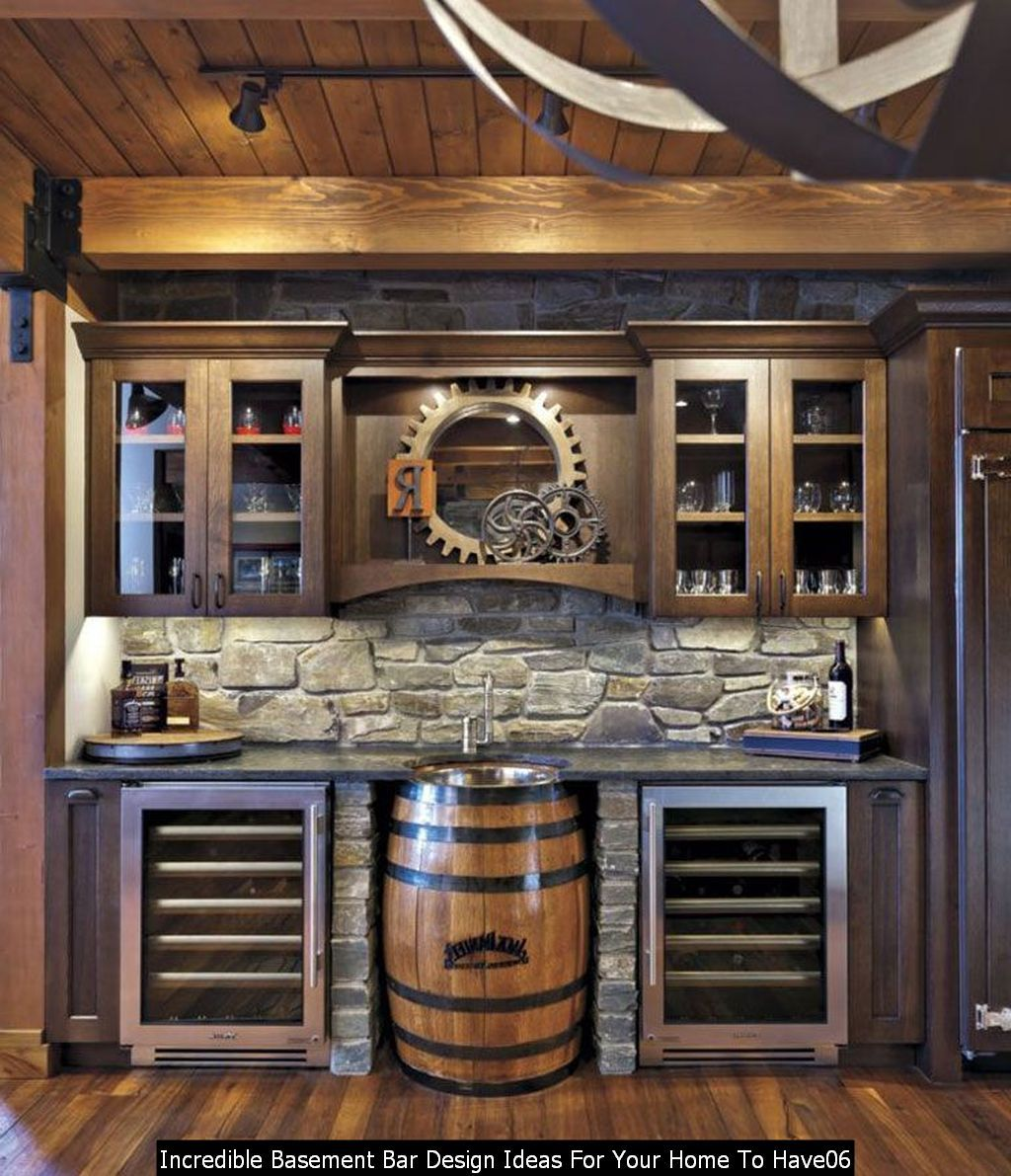 Home Design Basement Ideas: DIY Incredible Basement Bar Design Ideas For Your Home To