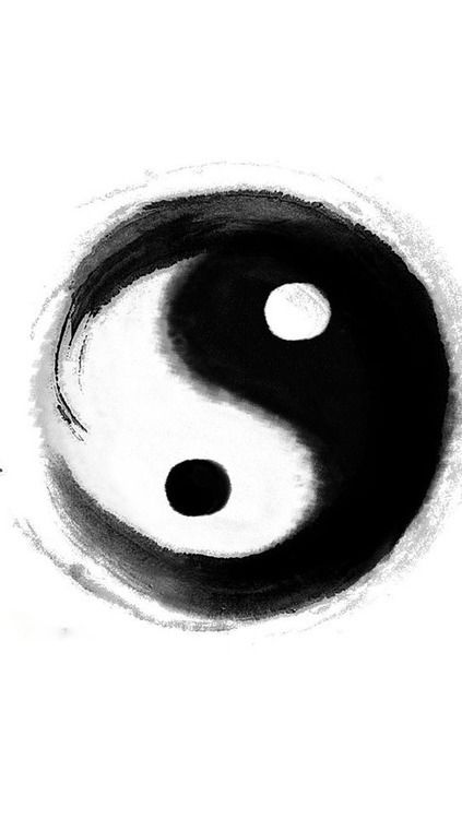 The black and white halves of the Yin-Yang symbol are similar to ...