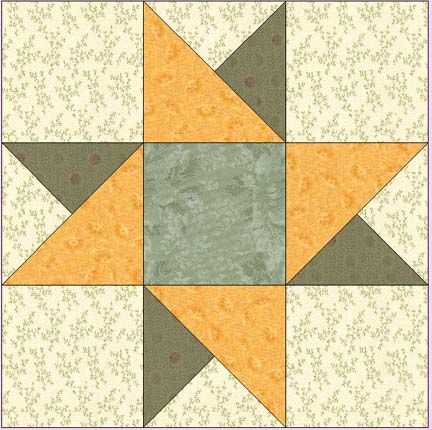 Spinning Star This Site Has Lots Of Free Quilt Blocks Pinwheel Quilt Block Quilt Block Patterns Free Star Quilt Patterns