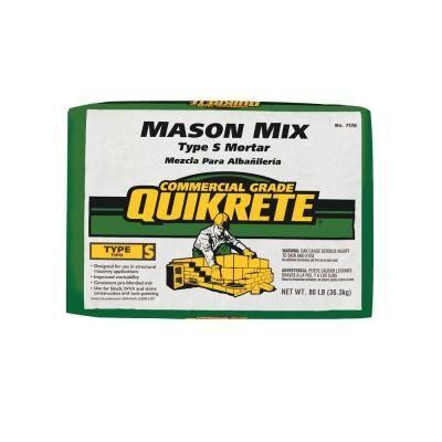 Quikrete 80 lb  Type S Mason Mix-113680 - The Home Depot