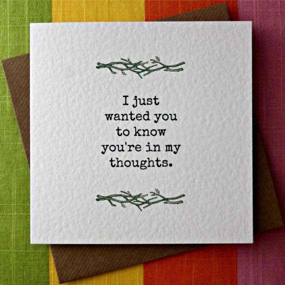 In My Thoughts Empathy Card Sorrow Loss Grief Sympathy