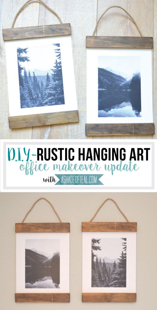 DIY- Rustic Hanging Art | Rose und Ideen