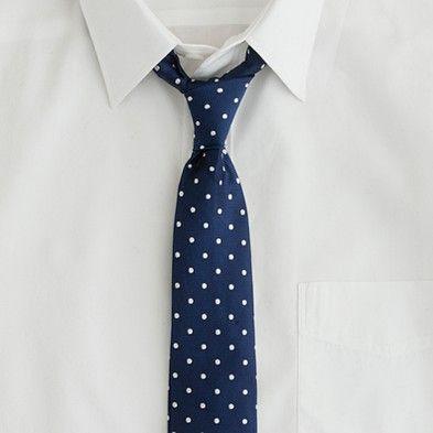 J.Crew Large-dot Cambridge tie