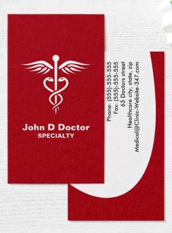 Red medical doctor or healthcare business cards a modern and red medical doctor or healthcare business cards a modern and contemporary doctor business card featuring colourmoves Images