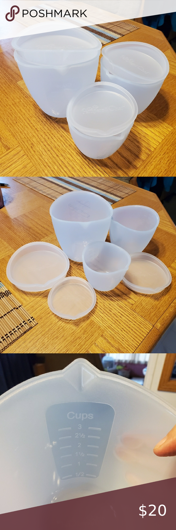 Pampered Chef Silicone Prep Bowls 3 Silicone Prep Bowls With Lids By Pampered Chef 1 Cup 250ml 2 Cup 500ml And 3 Cup 750ml Bowls Each Wi In 2020 With Images Pampered Chef