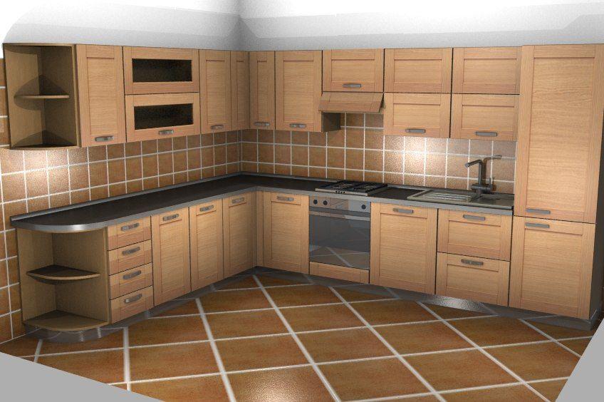 Scavolini cucina angolare ciliegio by #Scavolini #kitchen #kitchens ...