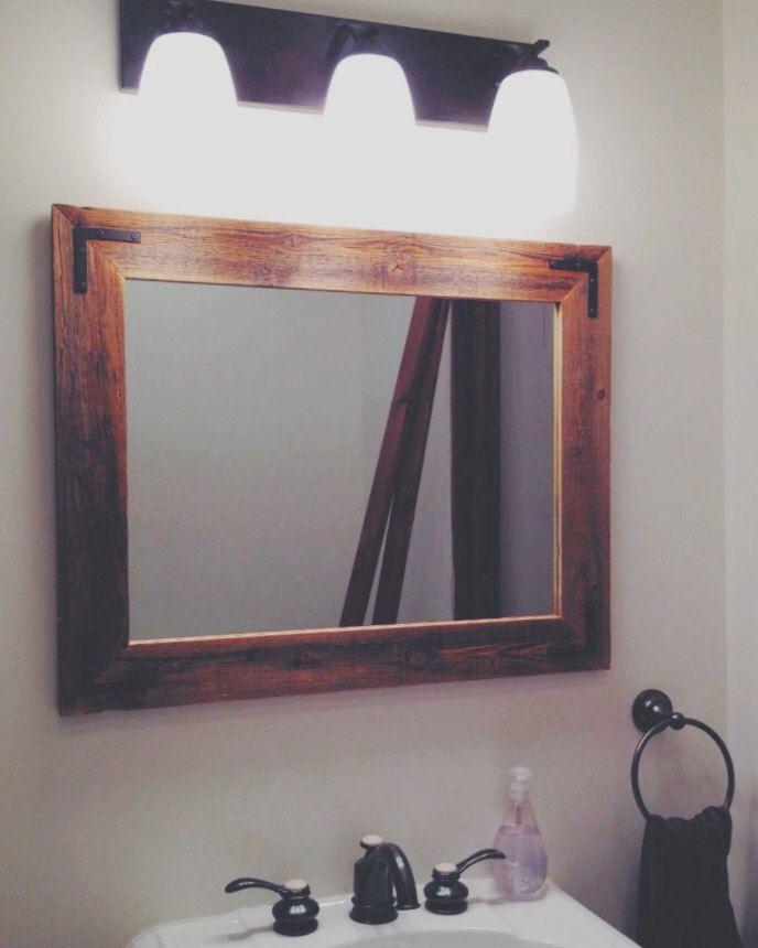 24x30 Reclaimed Wood Bathroom Mirror - Rustic Modern Home Decor ...