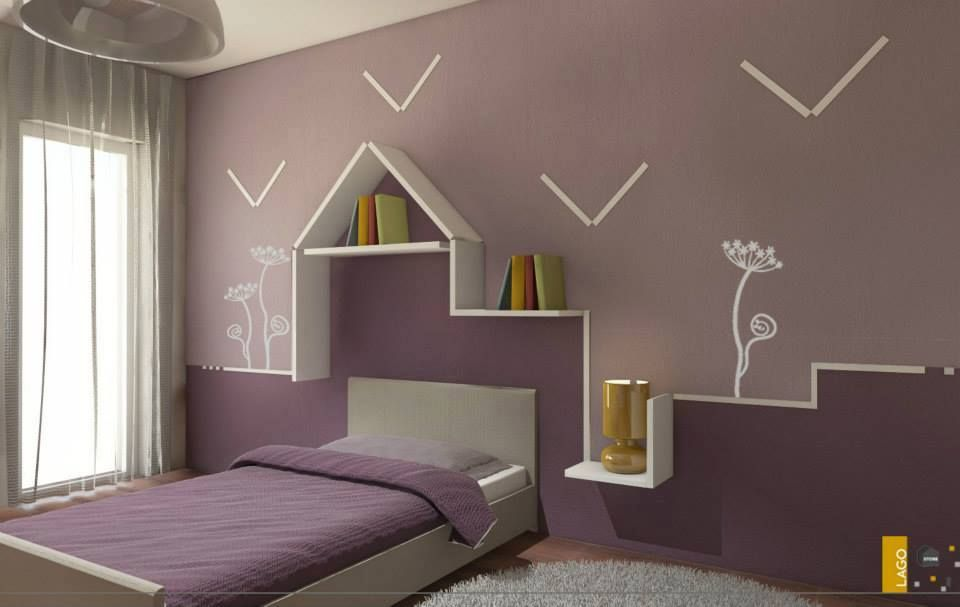 Cameretta realizzata dal LAGO STORE Catania. #children #bedroom  LAGO  Pint...