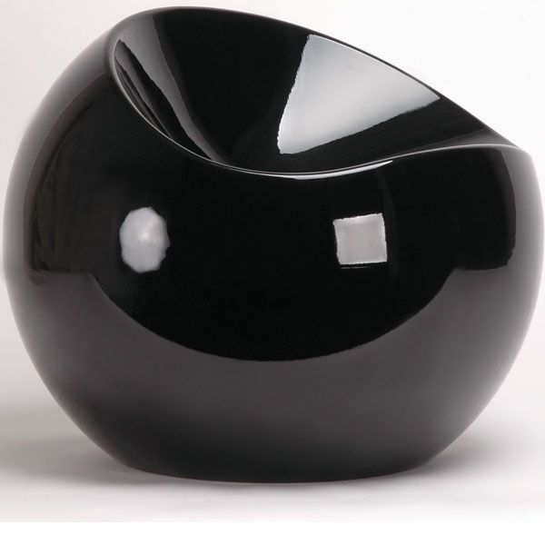 Merveilleux Ball Chair, Black