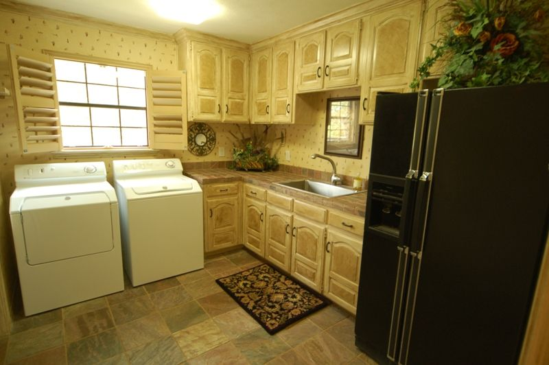Great Laundry room idea, makes for more space