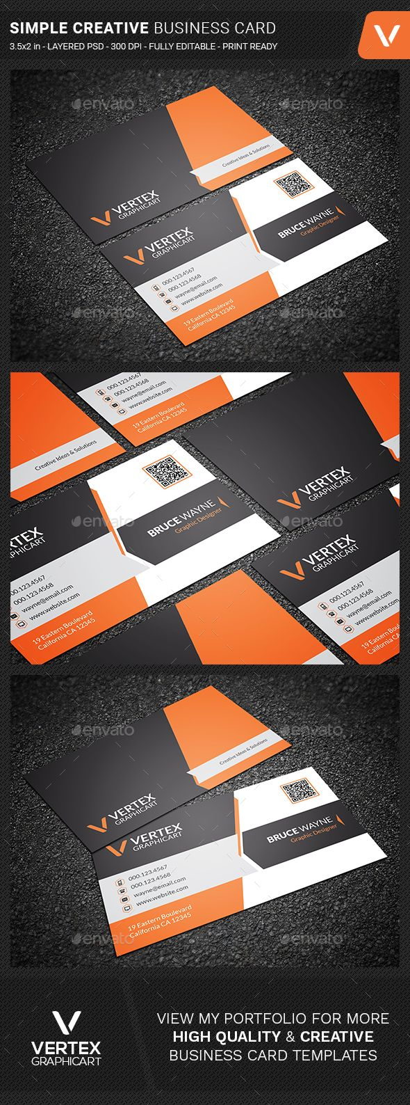 Simple Creative Business Card - Creative #Business #Cards Download ...