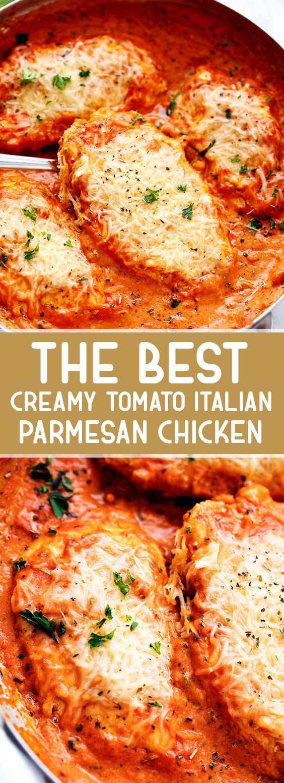 Photo of The Best Creamy Tomato Italian Parmesan Chicken #italian #chickenrecipes